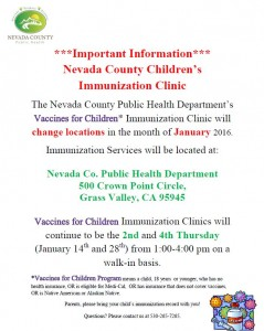 Immunization Clinic Flyer-January 2016