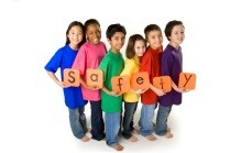 "Picture of Students with ""Safety"" Sign"