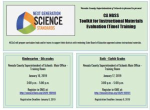 Next Generation Science Standards Evaluation Training Flyer