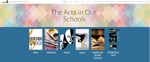 NCSOS Arts in our Schools website image